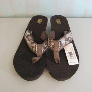 Teva Mush Mandalyn Wedge 2 Flip Flop Sandal SZ 11